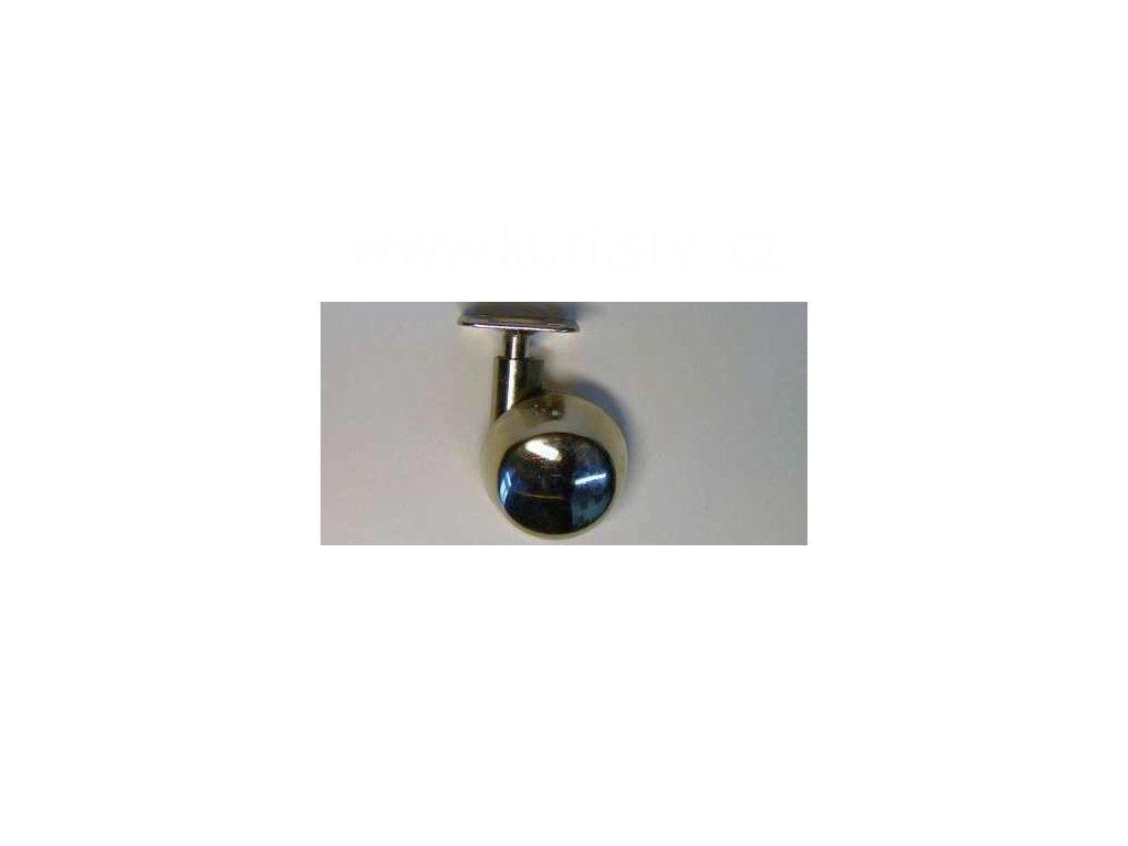 Celokovové kolečko levé, průměr 50, s kovovou destičkou