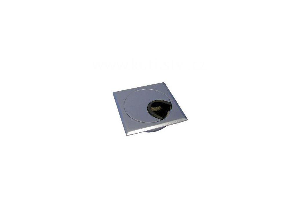 Průchodka kabelová, čtverec, průměr 60 mm, doprodej