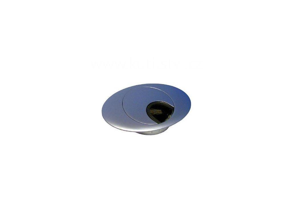 Průchodka kabelová, ovál, průměr 60 mm, doprodej