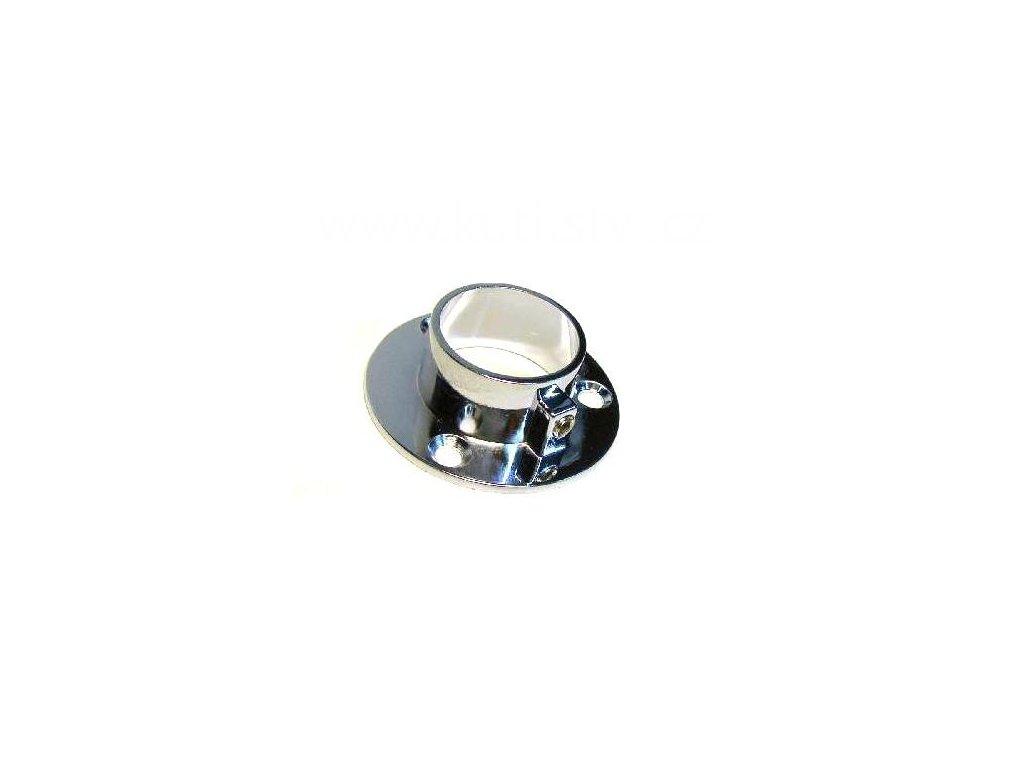 Podpěra, šatní tyč, kulatá, průměr 25 mm