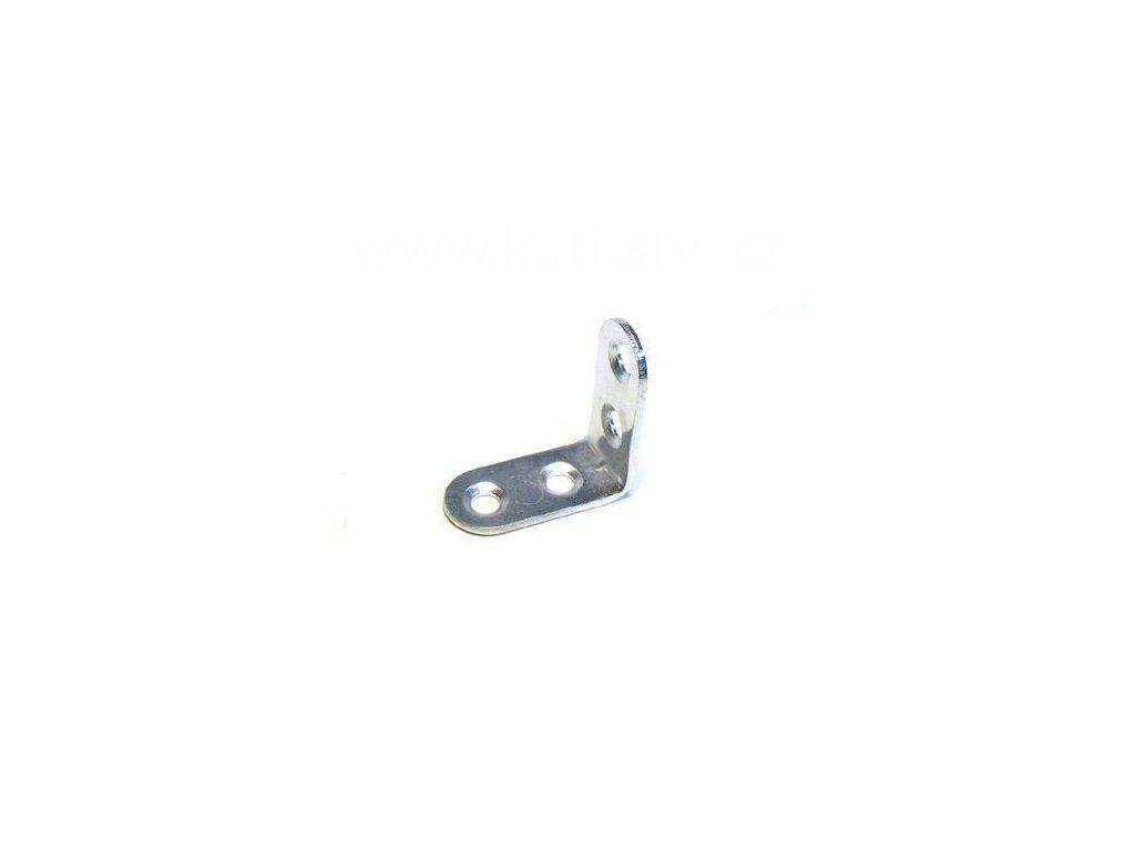 Úhelník s prolisem, délka 30 mm, zinek