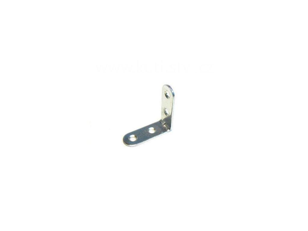Úhelník s prolisem, délka 40 mm, zinek