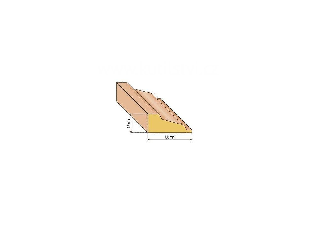 Dřevěná profilová lišta, 31