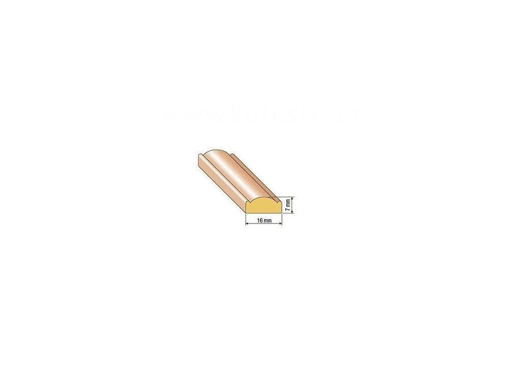 Dřevěná profilová lišta, 27