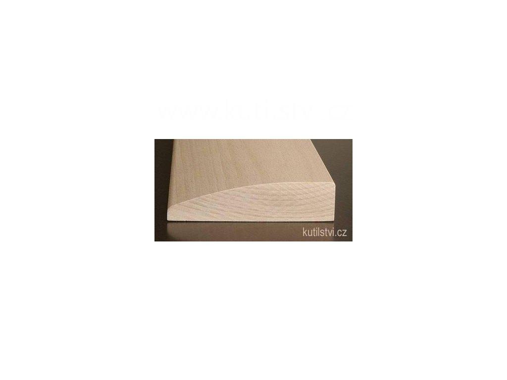 Dřevěný dveřní práh, zaoblený, buk