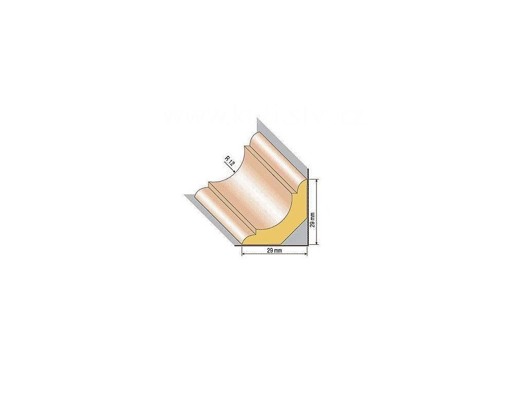 Dřevěná profilová lišta, 40, buk