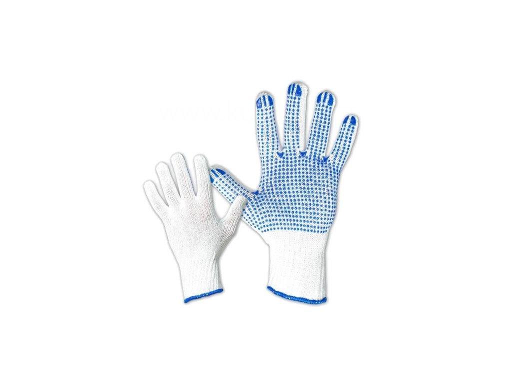 Bavlněné rukavice, PVC terčíky, pár