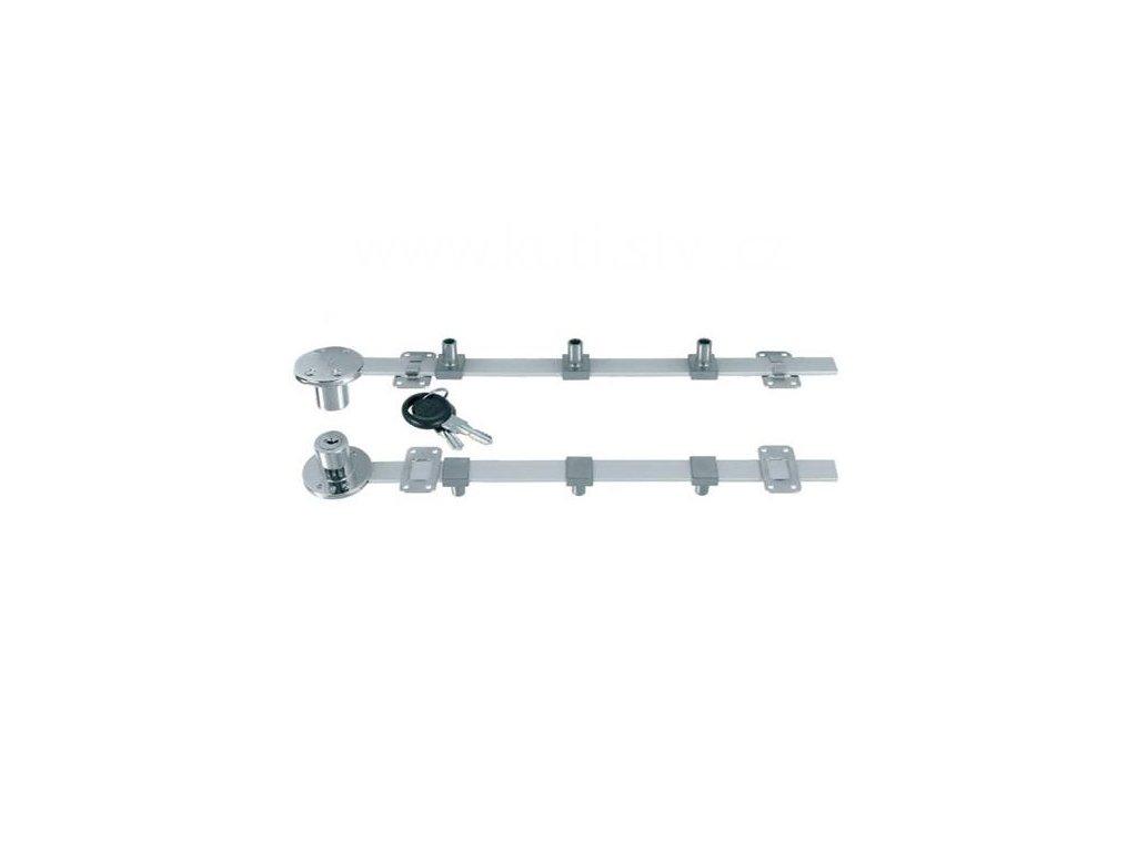 Centrální zámek SISO 851 boční, nikl, délka 600, 800mm