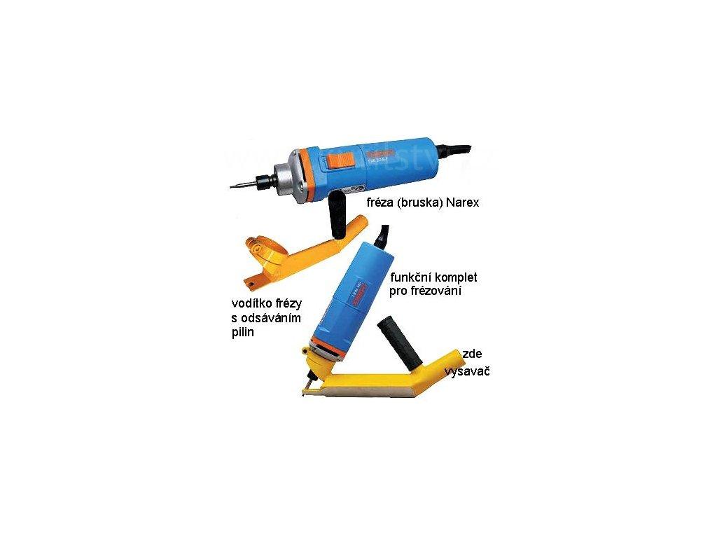 Vodící odsávací adaptér pro drážkování silikonového těsnění