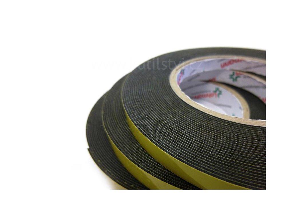 Autopáska  910 F pro ozdobné lišty, emblémy a doplňky automobilů - venkovní použití (Varianta Auto páska, černá, šíře 12mm, návin 10 metrů)