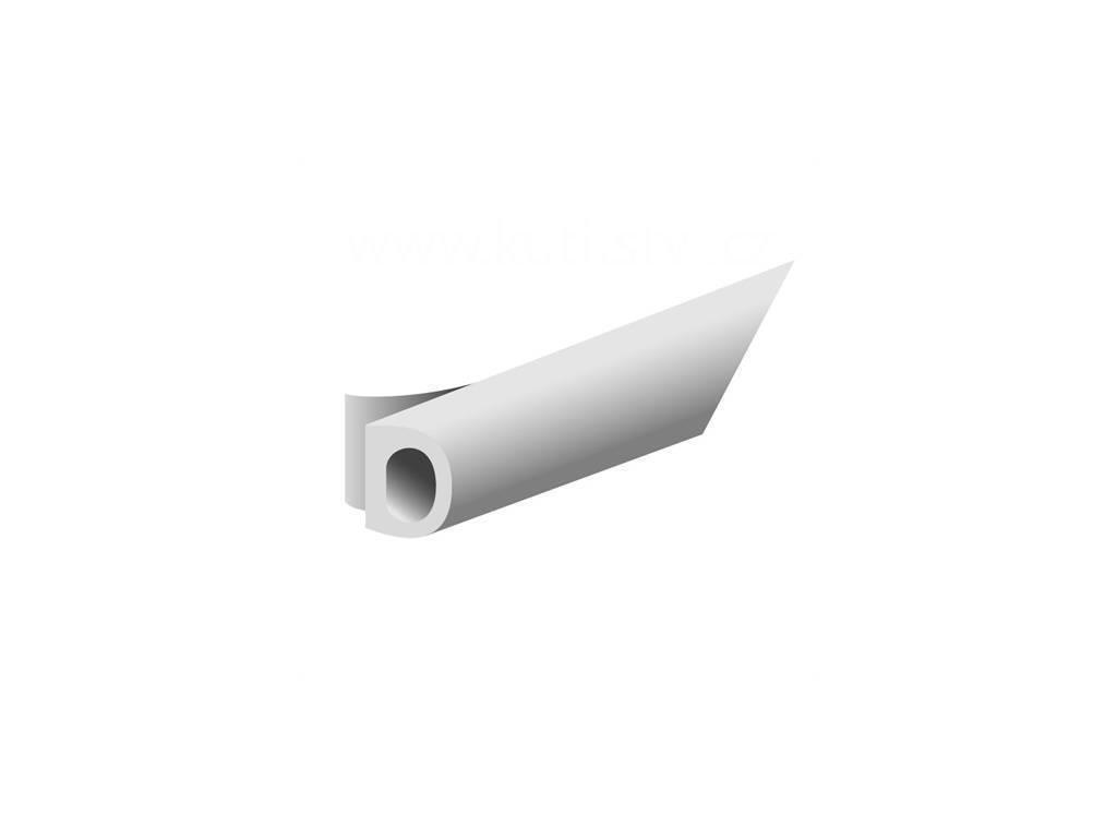 Samolepící těsnění oken a dveří, D profil - 9x6mm, materiál EPDM