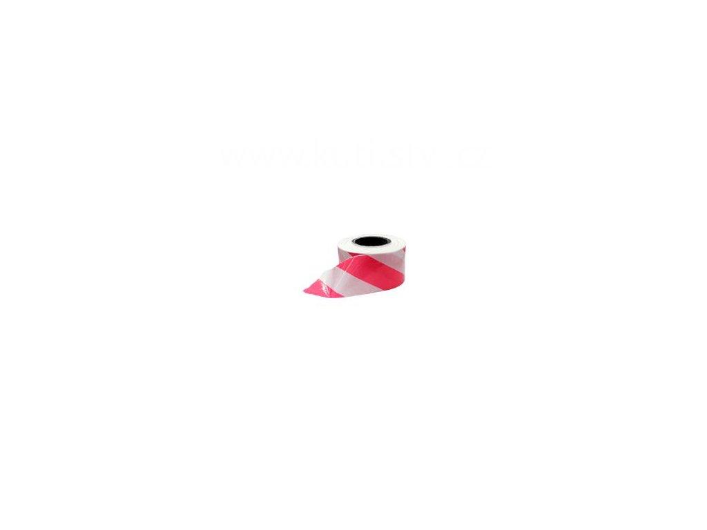 Výstražný pás červeno-bílý, 80 mm x 200 m