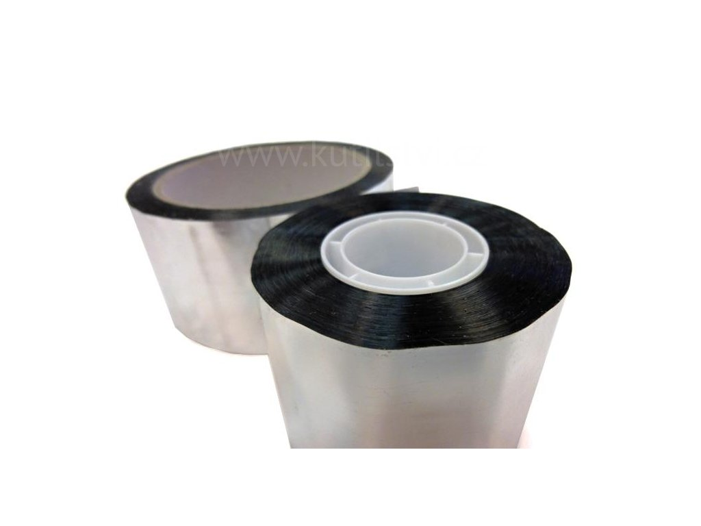 Samolepící pokovená polypropylenová páska, tl. 0,051 mm (Varianta Páska pokovená šíře 100mm, návin 50 metrů)