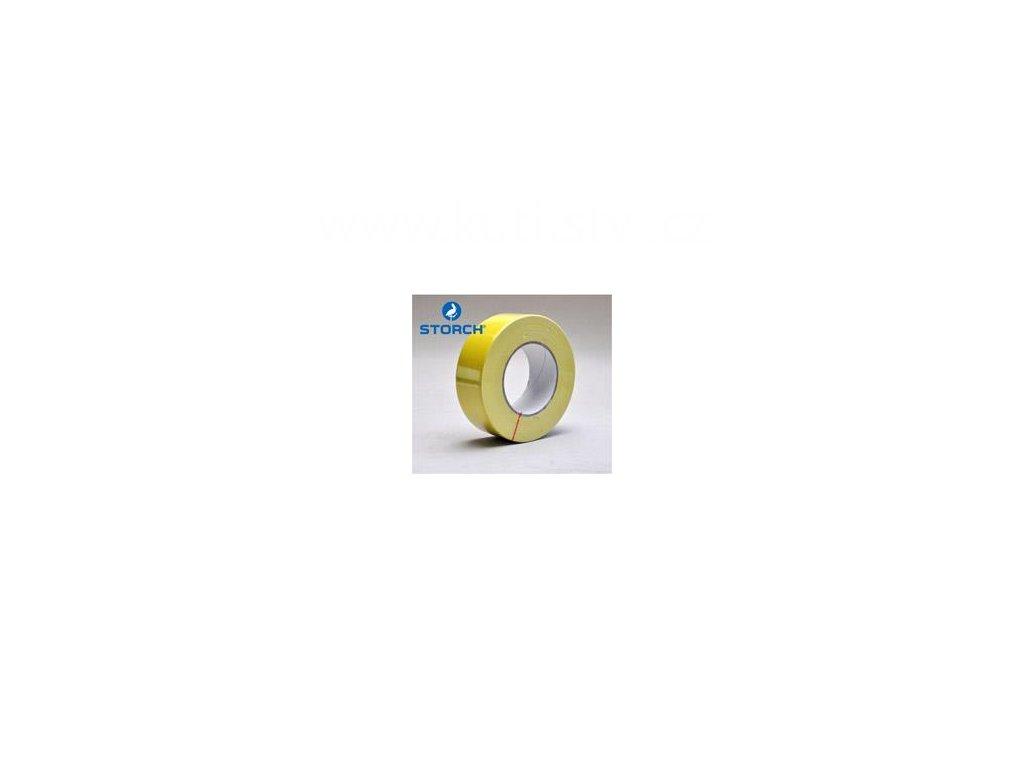Maskovací páska pro hrubé podklady (zdivo, omítka, beton), žlutá, 44mm x 50m