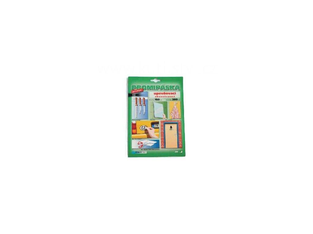Oboustranná upevňovací samolepicí karta, 15x20cm, doprodej