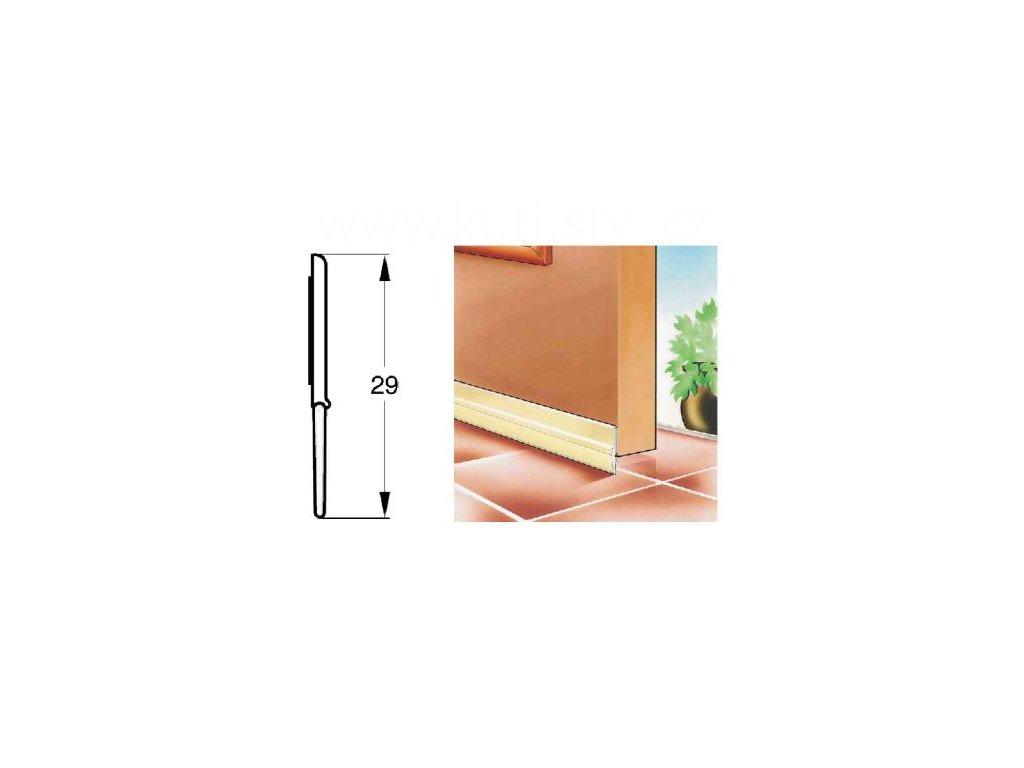 Samolepící plastové těsnění dveří vhodné do sanitárních prostor