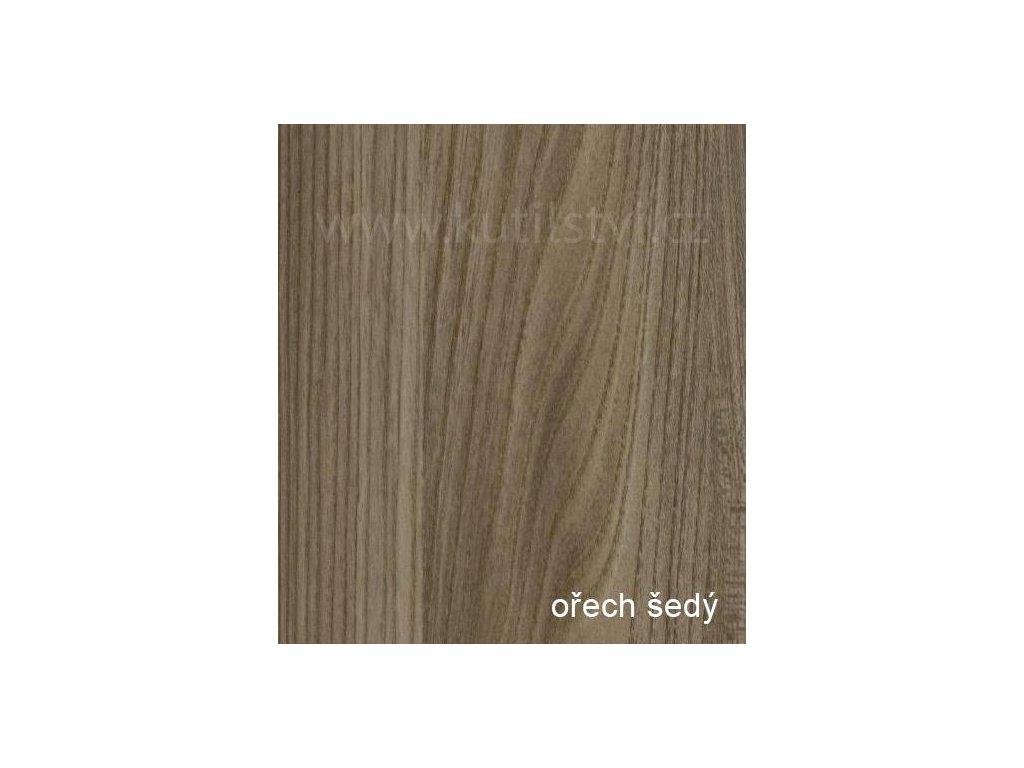 Profesionální renovační folie na dveře a nábytek - vzor Ořech šedý (Vzor Ořech šedý, 1 metr)