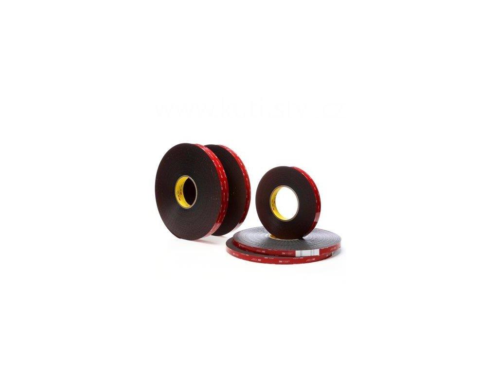 3M oboustranná páska VHB 5952P, šedočerná, montážní typ, velmi přizpůsobivá