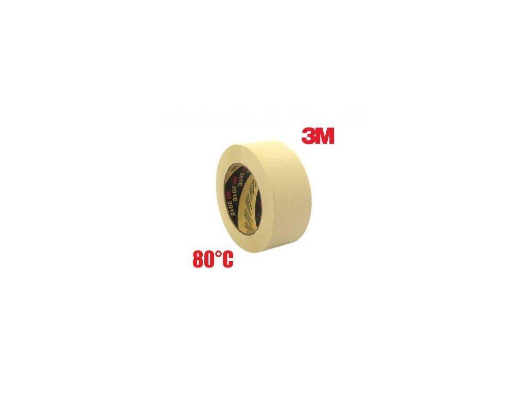 3M 201E maskovací páska, 80°C, 36 a 48mm x 50m