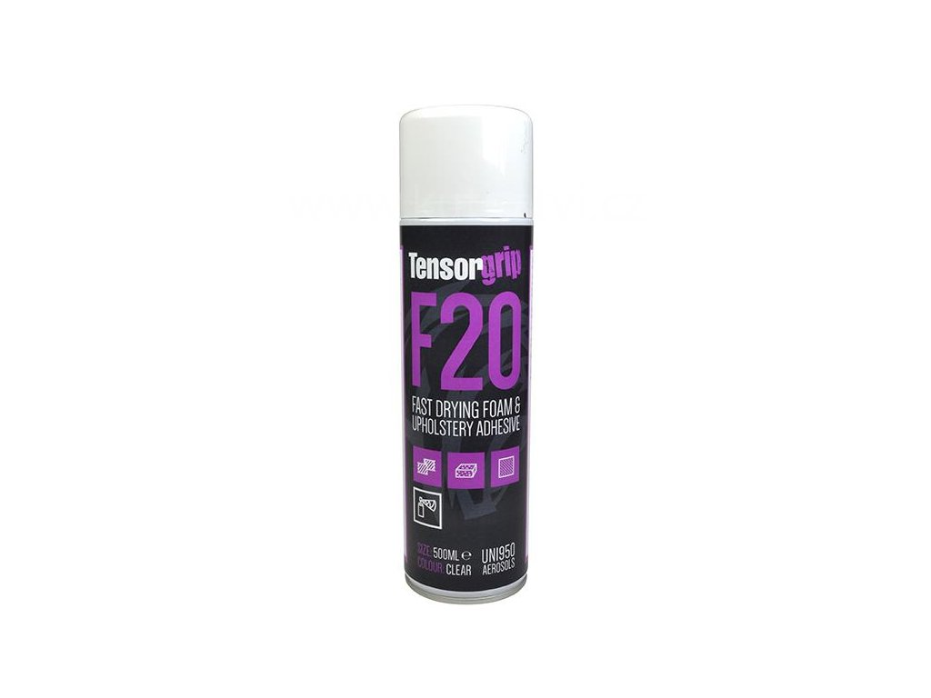 TensorGrip F20 - Rychleschnoucí lepidlo na pěnové materiály a čalounění, 500ml, spray