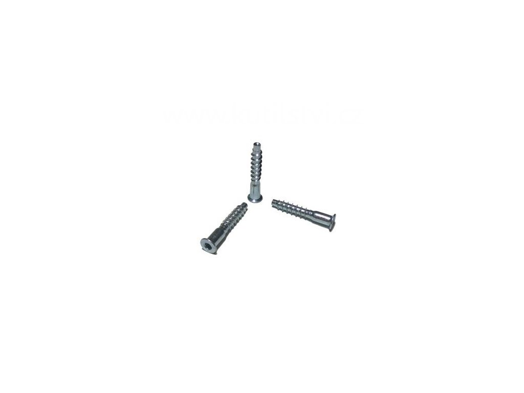 Vrut konfirmát, pozinkovaná ocel,5x30 mm