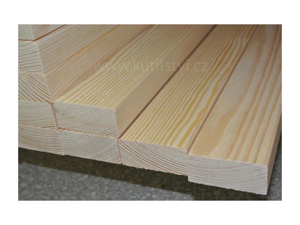 Dřevěné latě na lavičku, borovice, 25 x 55 mm