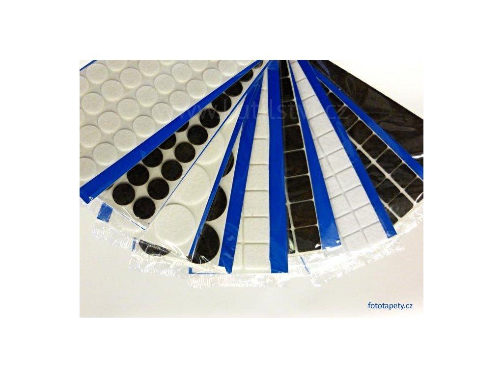 Filcové kluzné podložky samolepící pod nábytek - kruhové (Varianta průměr 20 mm - bílá, 40 ks v balení)