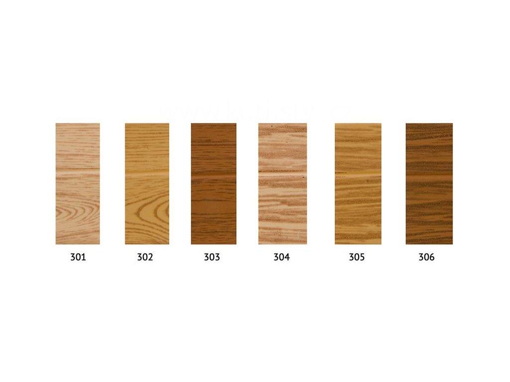 PVC soklová lišta samolepící - PVC lemovka - roh 30x25mm - imitace dřeva (Varianta odstín 2002 - cena za 1 metr)