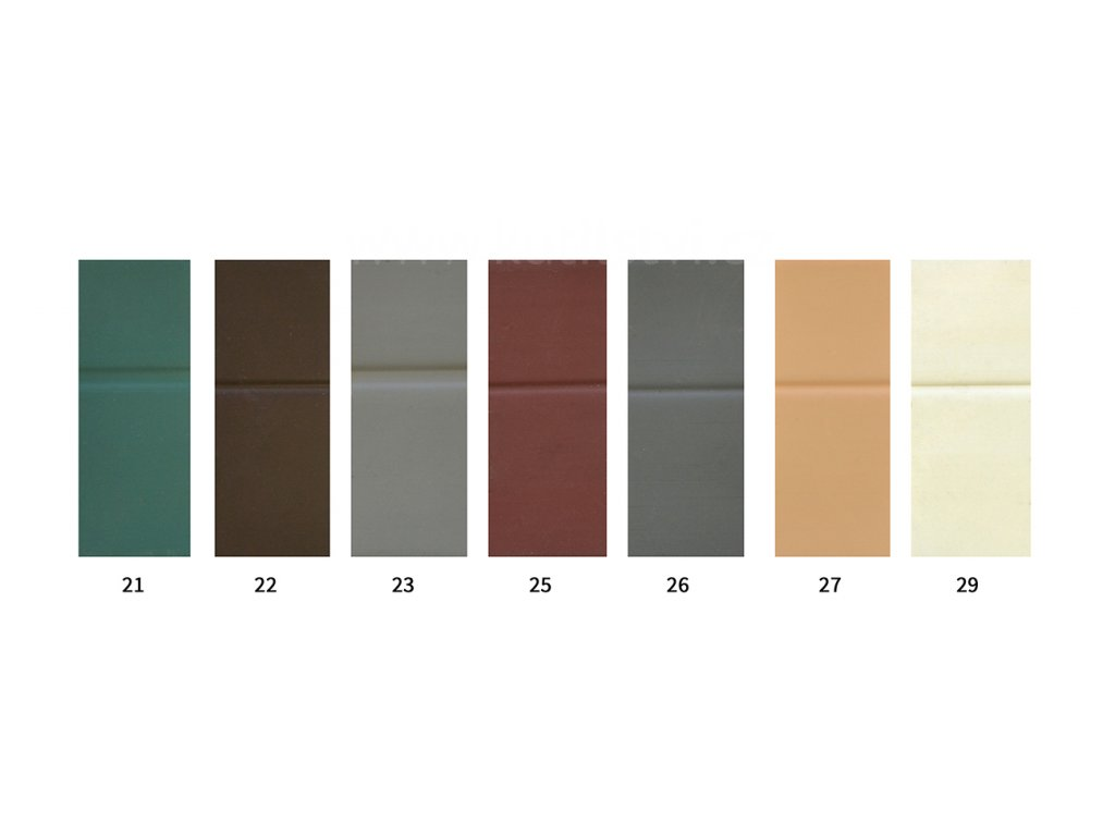 PVC soklová lišta samolepící - PVC lemovka - roh 30x25mm - jednobarevná (Varianta odstín 212 - cena za 1 metr)