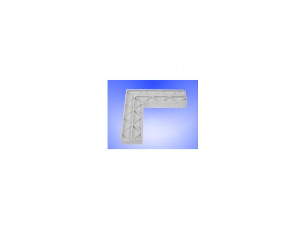 Rohová spojka dvěřního profilu 40x20 vntřní