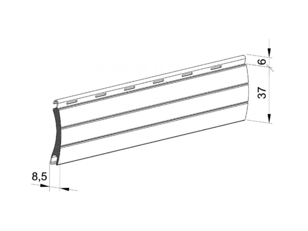 hliníková lamela 37 mm roleta
