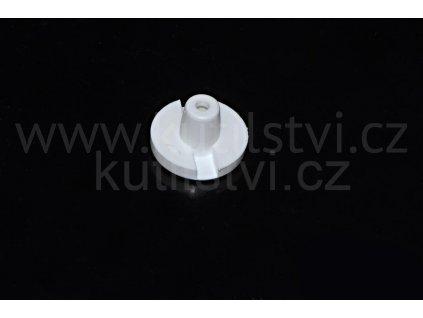 Zátka dolní lišty průměr 6,5 mm, bílá