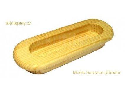 dřevěná úchytka MUŠLE zápustná - doprodej (Varianta MUŠLE borovice přírodní)