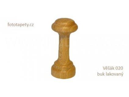 Dřevěný věšák 020 - jednokolíkový (Varianta Věšák 020 buk lakovaný)