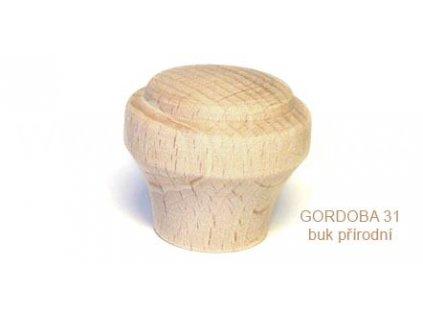 knopek dřevěný GORDOBA 31 (Varianta GORDOBA 31 buk lakovaný)