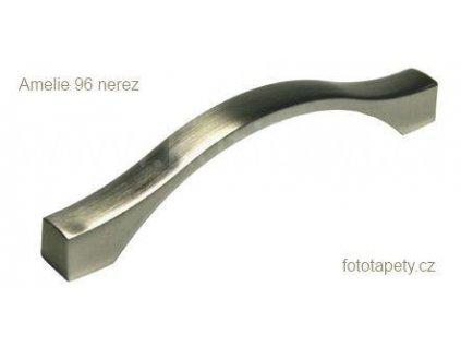 kovová nerezová úchytka AMELIE 96,128,160,192,224,288,352 (Varianta AMELIE 128 nerez)