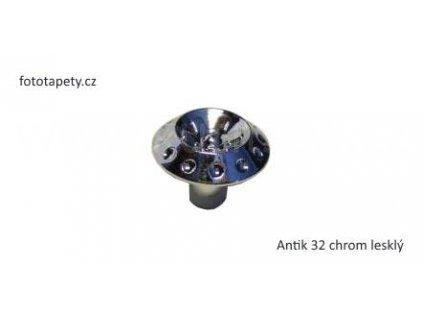 kovový knopek ANTIK 24,32 (Varianta ANTIK 24 chrom lesklý)