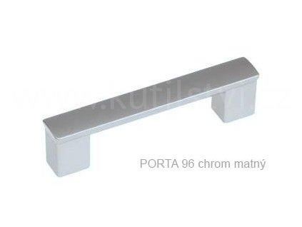 Plastová úchytka PORTA  96,128 (Varianta PORTA 128 chrom matný)