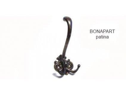 Rustikální věšák Bonapart (Varianta BONAPART mosaz)