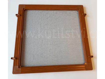 Síť proti hmyzu stavebnice profil OV 25x10, barva imitace dřeva