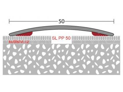 Samolepící podlahová  přechodová lišta, šířka lišty 50mm, vhodná pro koberce