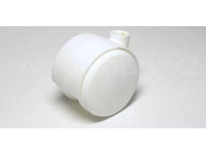 Nábytkové kolečko typu A, celoplastové, průměr 40, bílé