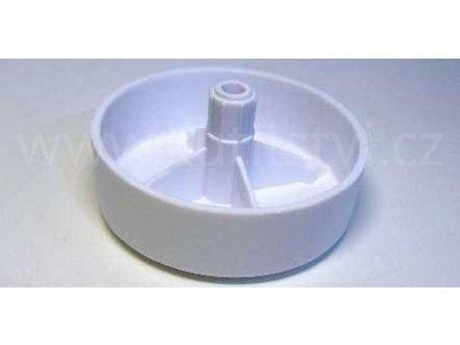 Celoplastový kluzák KUNC, průměr 60x20 mm, bílý