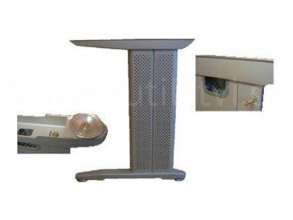 Podnož stolová, výška 730 mm, stříbrná