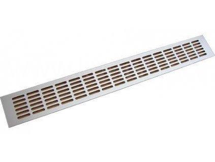Hliníková větrací mřížka, ELOX, 1000x100 mm