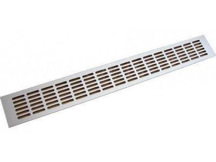 Hliníková větrací mřížka, ELOX, 800x100 mm