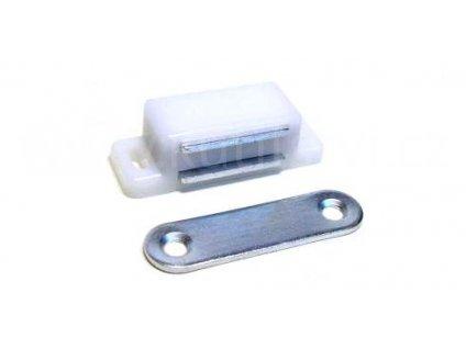 Nábytková magnetka, délka 45 mm, bílá