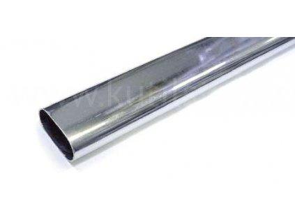 Šatní tyč, 15x30 mm, chrom