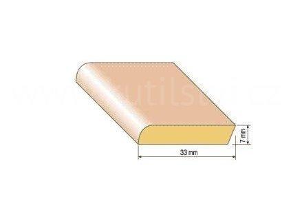 Dřevěná parketová lišta, 33x7 mm, buk