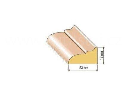 Dřevěná profilová lišta, 22, dub